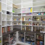 Corner Pantry with Shelves and Baskets