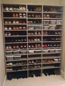 Shoe Shelves with Bins