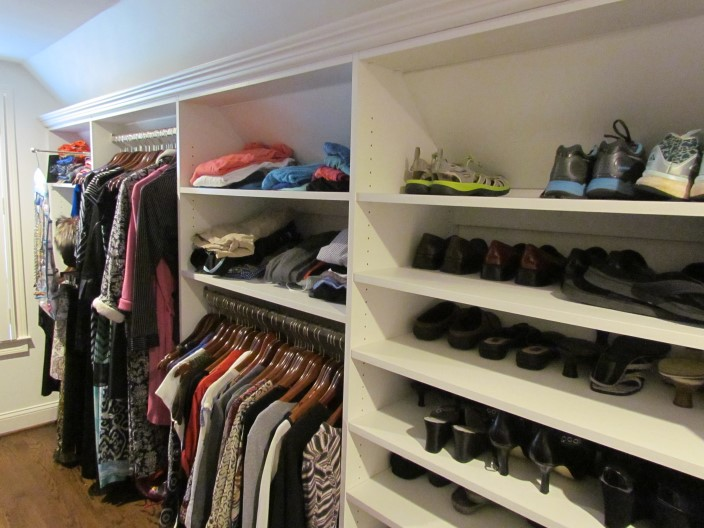 Sloped Ceilings Atlanta Closet