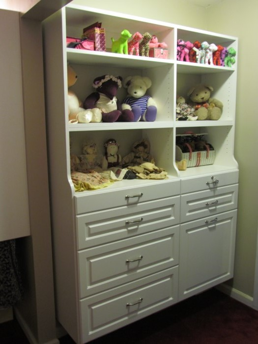 Delightful Twin Hutches, Flat Drawer Face, Oil Rubbed Bronze Pulls ...