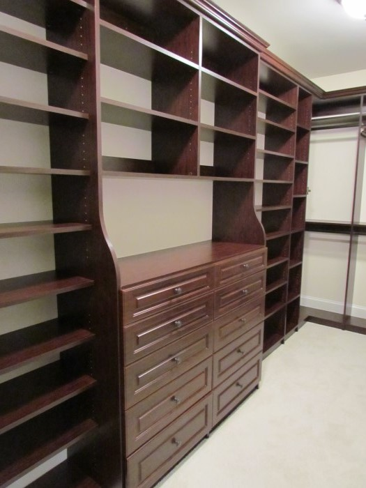 Mahogany Double Bump Out Hutch, Lexington Drawers, Oil Rubbed Bronze Knobs  ...