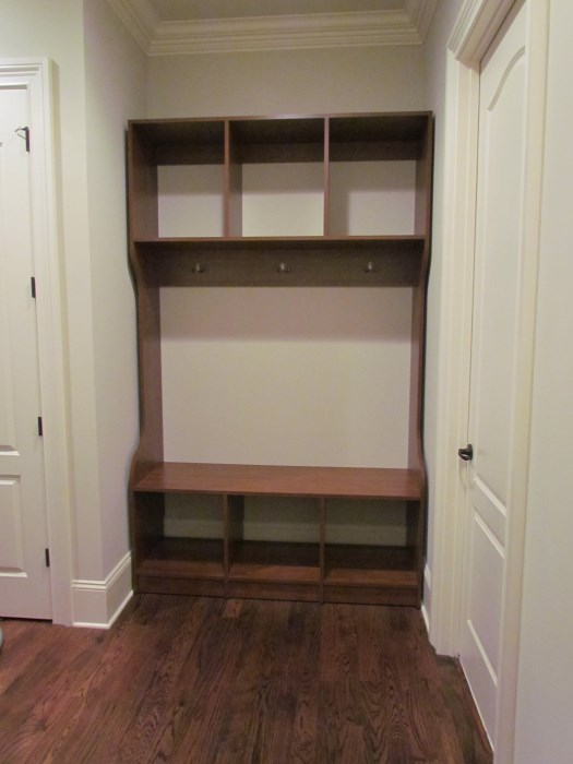 Wall Hung Bench And Cubbies