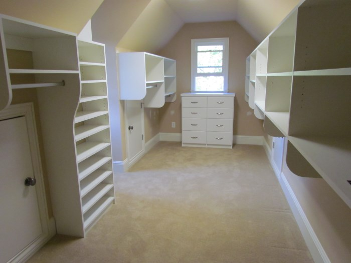 Long Closet With Sloped Ceiling ...