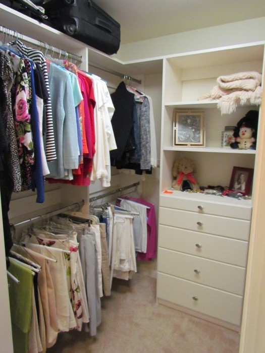 Hers Hanging With Wide Drawers · His Hanging Closet