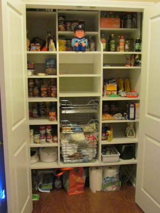 Pantry   Raised Wire Baskets. Wire Basket Closet Hamper