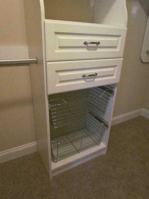 Closet Wire Baskets Below Drawers ...