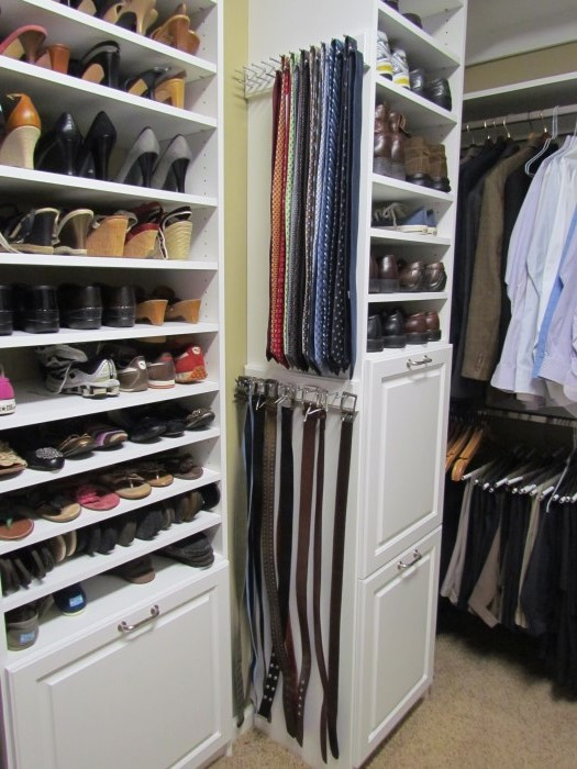 Side Mounted Belt and Tie Racks : storage racks for closets  - Aquiesqueretaro.Com