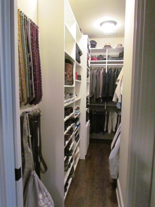 Ties And Belts At Closet Entrance Mounted Tie Rack