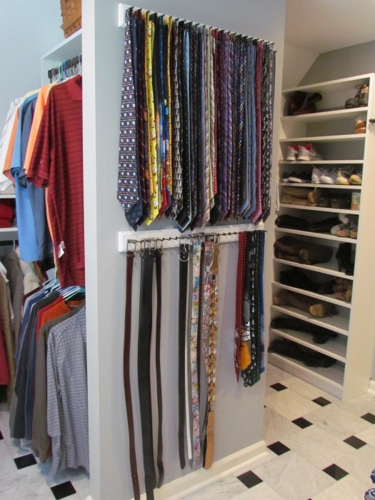 Wall Mounted Or Sliding Belt And Tie Racks Are Smart Efficient