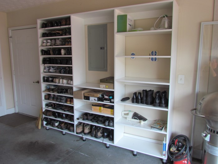 For Garages And Other Potentially Wet Floors We Utilize Adjustable Aluminum  Legs To Keep Our Shelving Up Off The Floor While Still Providing Rock Solid  ...