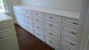 Long Built-in-Dresser with Traditional Oil-Rubbed Pulls