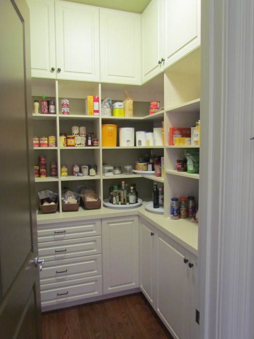 Atlanta closet storage solutions pantries for Walk in pantry cabinets