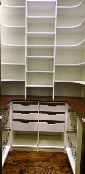 Tall Floor To Ceiling With Pullouts And Corner Shelves ...