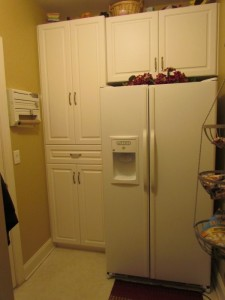 Pantry Nook behind Refrigerator
