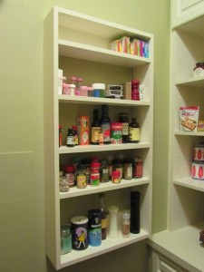 Spice Rack behind Doors