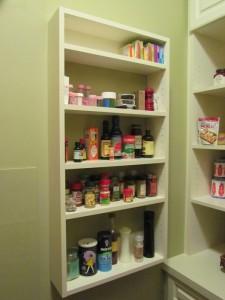 Spice Rack behind Doors