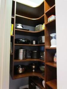 Cherry Corner Shelves