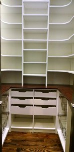 Tall Floor-to-ceiling with Pullouts and Corner Shelves