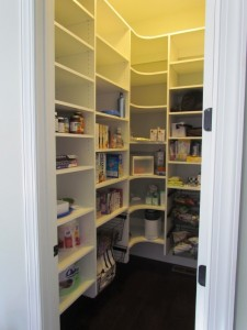 Wall Hung Pantry Shelves