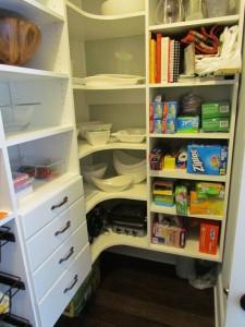 Corner Shelves and Drawers