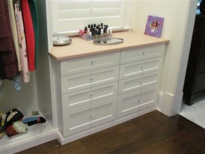 Dressing Table with Custom Knobs