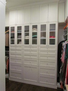 Bank of Drawers with Custom Knobs