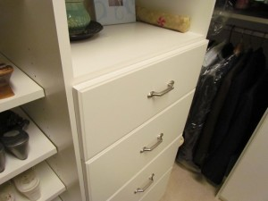 Slab Drawers with Classic Satin Nickel Pulls