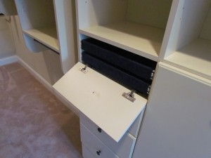 18-inch Jewelry Flip Down Drawer