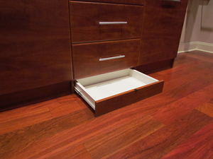 Open Toekick Drawer