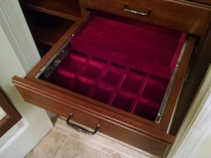 Open Double Jewelry Drawer