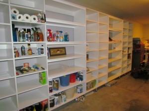 Open Garage Shelves