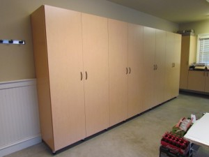 Tall Garage Cabinets Match Existing