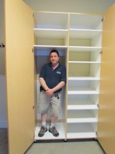 Man-size shelves