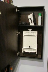 Open Ironing Cabinet