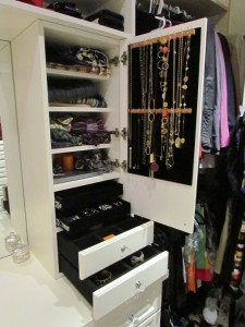 Open Jewelry Cabinet