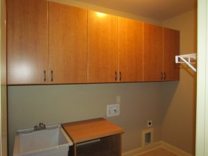 Cherry Cabinets and Shelf with Classic Oil Rubbed Bronze Pulls