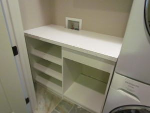 Laminate Counter Cut and Positioned around Plumbing