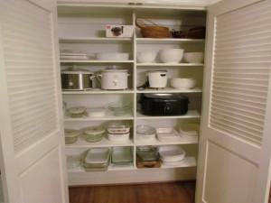 Reach-in Linen Closet as a China Closet