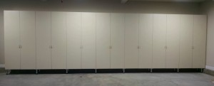 Long Garage Wall of Cabinets