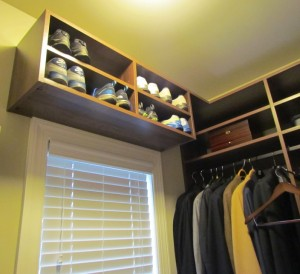 Mens Shoe Shelf over Window