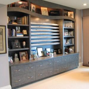 Curved Shelves for Custom Golf Ball Display