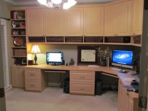 Home Office in Maple - left view