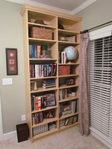 Built-in Shelves with Crown Molding