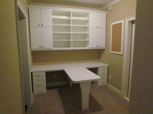 Homework and Craft Room Desk and Storage