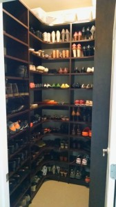 Shoe Closet Corner Shelves