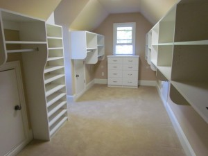Long Closet with Sloped Ceiling