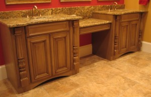 Vanity with Pilasters