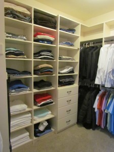 Neat and Organized Walk-in Closet