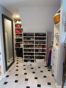 Nooks and Crannies w Black and White Tile Floor