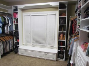 Surrounded with Valance, Bench and Cubbies